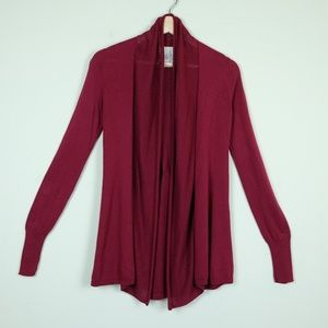 Anthropologie Angel of the North Red Open Cardigan